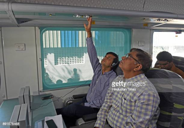 A new Anubhuti coach which has arrived at the Mumbai Central coach depot on December 12 2017 in Mumbai India The Anubhuti coach is equipped with...