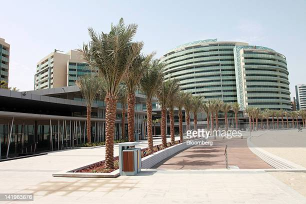 New apartment blocks are seen on the beachfront at the Al Muneera development during a media tour organized by Aldar Properties PJSC Abu Dhabi's...