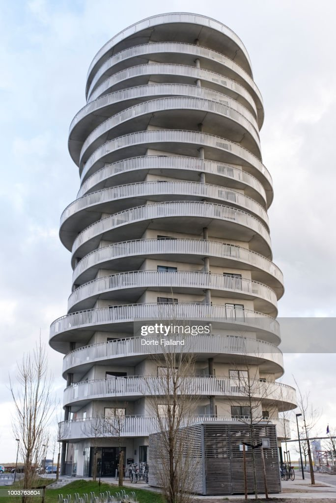 New apartment building in Amager Strandpark : Stock Photo