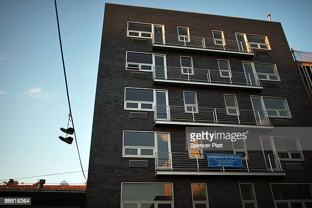 A new apartment building is shown July 8 2009 in the Brooklyn neighborhood of Williamsburg in New York City Due to the fall in home sales and a...