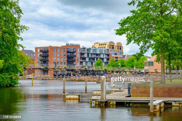 """new apartment buildings in the city centre of zwolle - """"sjoerd van der wal"""" or """"sjo"""" stock pictures, royalty-free photos & images"""
