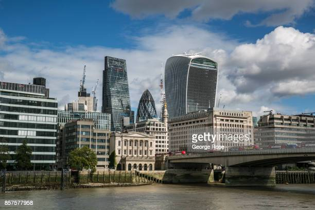 New apartments and office space along The River Thames near the financial district is viewed on September 13 in London England Great Britain's move...