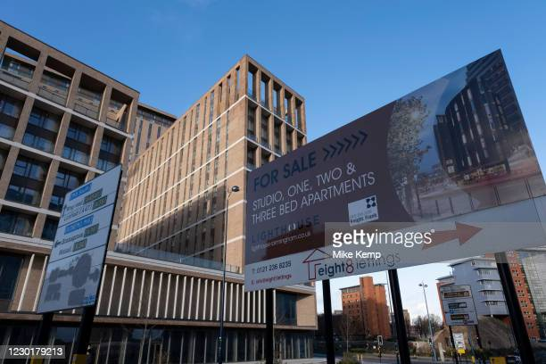 New apartments for sale in the city centre on 14th December 2020 in Birmingham, United Kingdom. The city is under a long term and major...