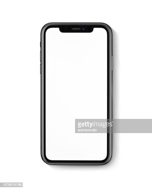 新しいアップル iphone ホワイト バック グラウンドに xr ブラック正面 - 数字の11 ストックフォトと画像