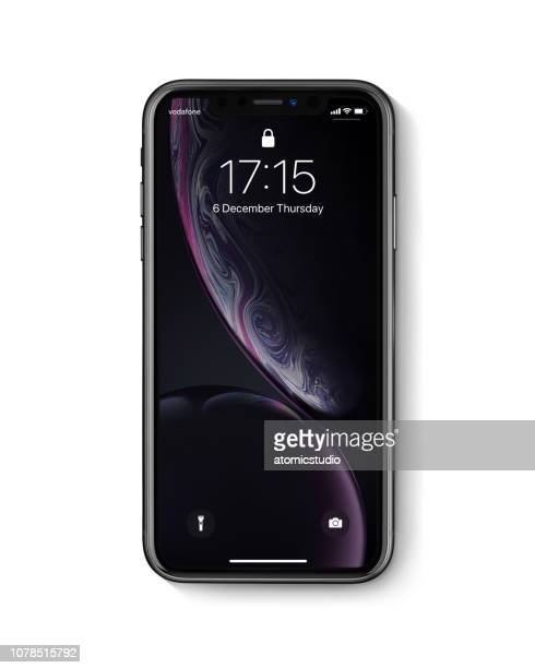 New Apple iPhone Xr Black front view on white background