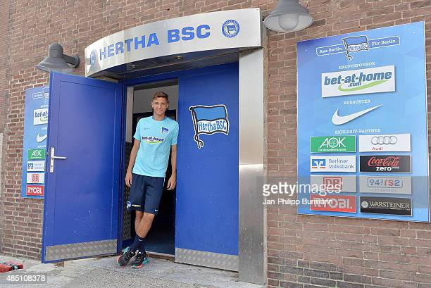 New arrival Niklas Stark of Hertha BSC during the training of Hertha BSC on august 24 2015 in Berlin Germany