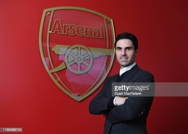 New Arsenal Head Coach Mikel Arteta is unveiled at London Colney on December 20 2019 in St Albans England