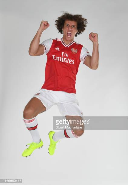 New Arsenal signing David Luiz at London Colney on August 08, 2019 in St Albans, England.