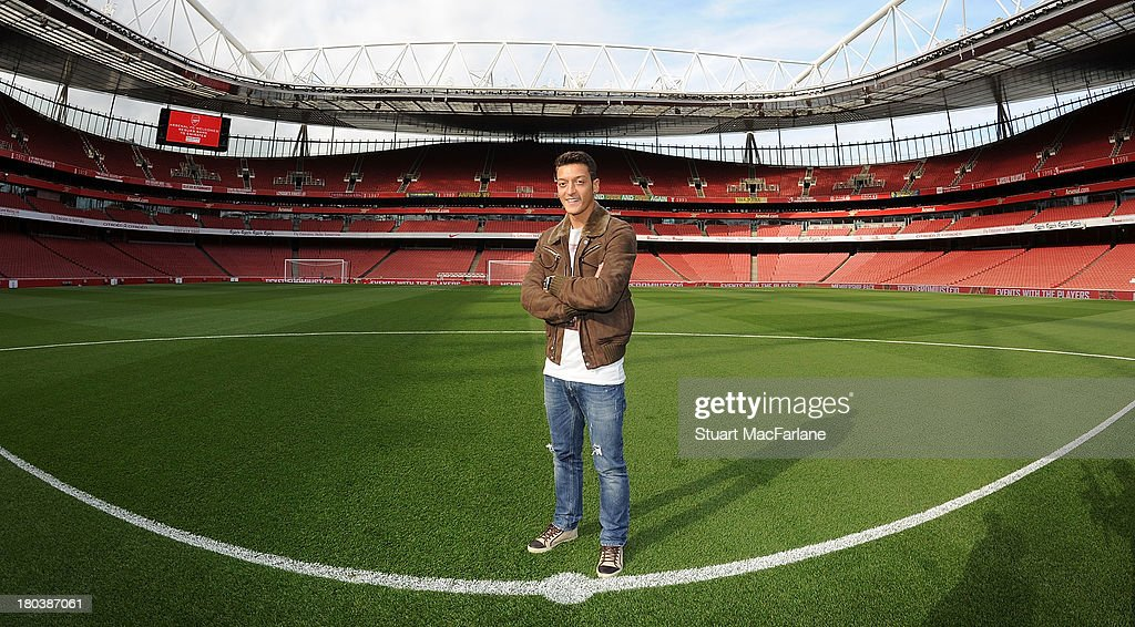 Arsenal FC New Signing Mesut Ozil Visits the Emirates Stadium : News Photo