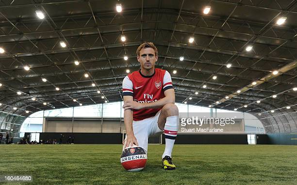 New Arsenal signing Nacho Monreal poses for a picture at Arsenal Training Ground, London Colney on February 1, 2013 in St Albans, England.