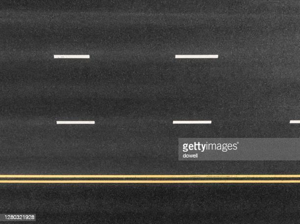 new asphalt road with traffic sign - 路面表示 ストックフォトと画像