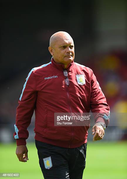 New Aston Villa assistant coach Ray Wilkins looks on before the pre season friendly between Walsall and Aston Villa at Banks' Stadium on July 25 2015...
