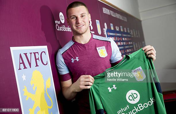 New Aston Villa loan signing Sam Johnstone is unveiled at Bodymoor Heath training ground on January 5 2017 in Birmingham United Kingdom