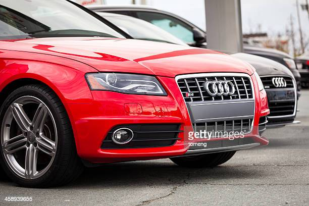 new audi vehicles in a row - audi stock pictures, royalty-free photos & images