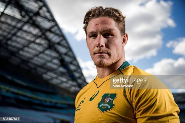 New Australian Wallabies captain Michael Hooper poses for a portrait at ANZ Stadium on August 2 2017 in Sydney Australia Michael Hooper replaces...