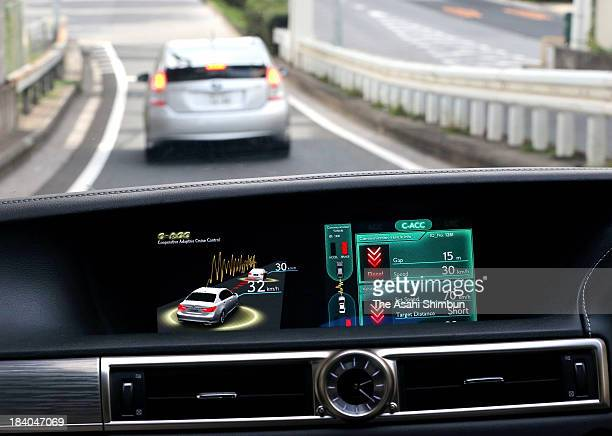 A new automated driving support system developed by Toyota Motor Corp can detect speed changes of a preceding car and maintain a specified distance...