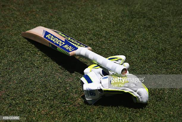 New Balance bat and gloves are seen during game five of the One Day International series between Australia and South Africa at Sydney Cricket Ground...