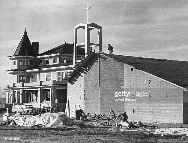 DEC 28 1963 JAN 15 1984 New Baptist Church Strikes Contrast with Mansion it will Help Replace New Church and Old Mansion Give Sharp Contrast Effect