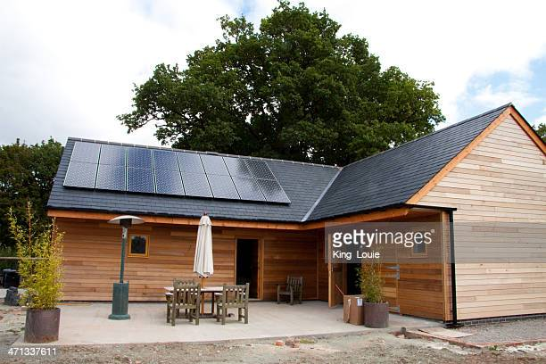 new barn conversion - solar panels stock photos and pictures