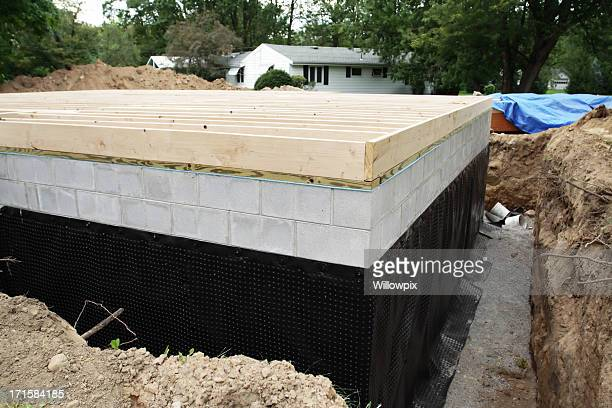 New Basement Foundation Waterproofing