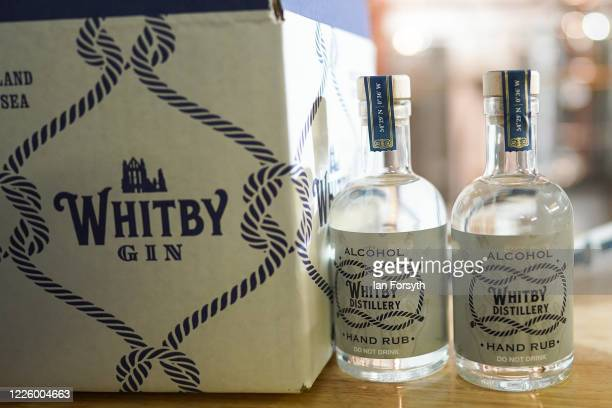 New batch of sanitising hand rub at the Whitby Gin distillery waits to be distributed on May 20, 2020 in York, United Kingdom. Jessica Slater and...