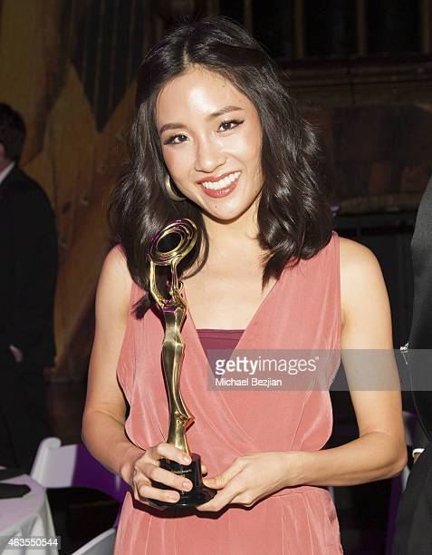 New Beauty Recipient Constance Wu backstage at 1st Hollywood Beauty Awards Presented By LATF And Benefiting Children's Hospital Los Angeles at The...