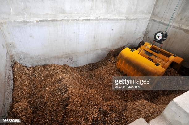 New biomass boiler fueled with wood waste for district heating on May 14 2013 in Nantes western France 13000 homes and many public facilities are...