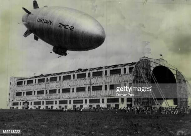 New Bird for the Navy The new navy allmetal dirigible ZNC2 landing at Lakehurst N J after a flight from Detroit Mich Authorities were Mystified When...