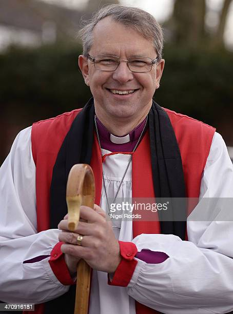 New Bishop of Durham Bishop Paul Butler takes part in the traditional welcome to the Diocese on Croft Bridge on February 21 2014 in Darlington...