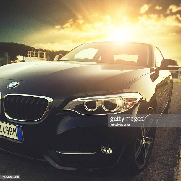 new bmw 2 series headlight - bmw stock pictures, royalty-free photos & images