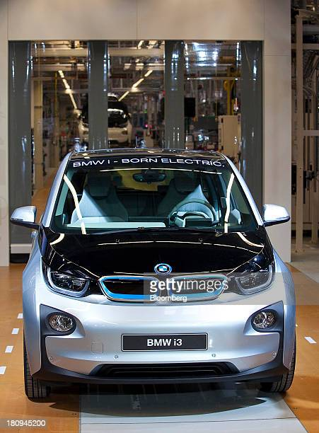 A new BMW i3 batterypowered automobile manufactured by Bayerische Motoren Werke AG is seen at the company's factory in Leipzig Germany on Wednesday...