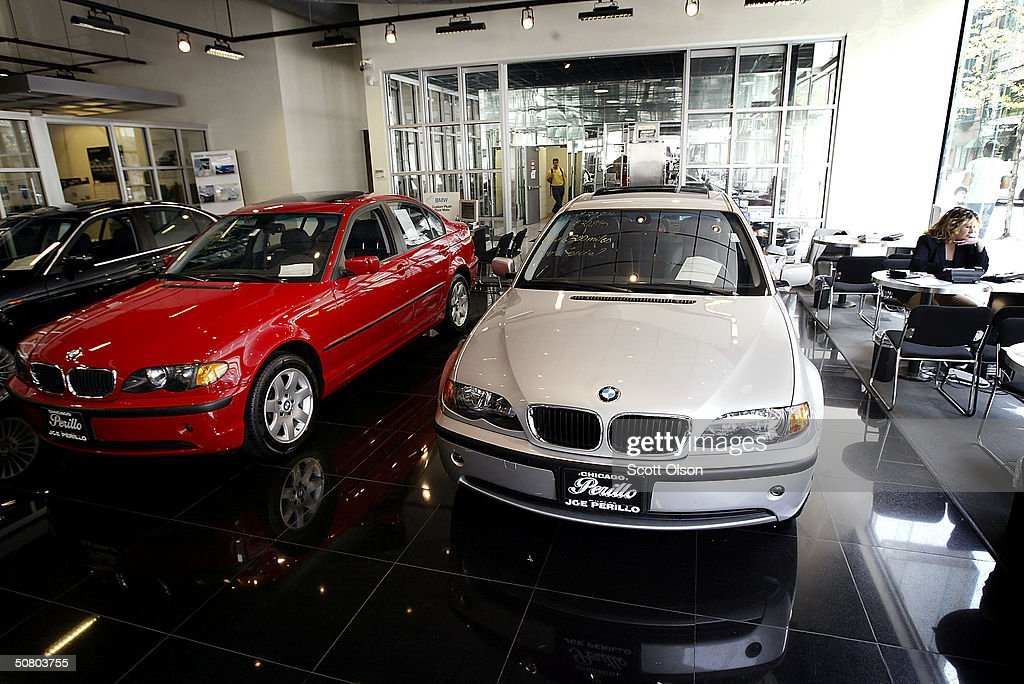 New BMWs Sit In The Showroom At Perillo BMW May 5, 2004 In Chicago,