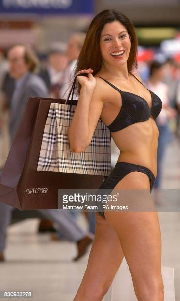 New Bond Girl Catherine McQueen at Victoria Station in London to launch the new personal shopping service on the Gatwick Express train Two retail...