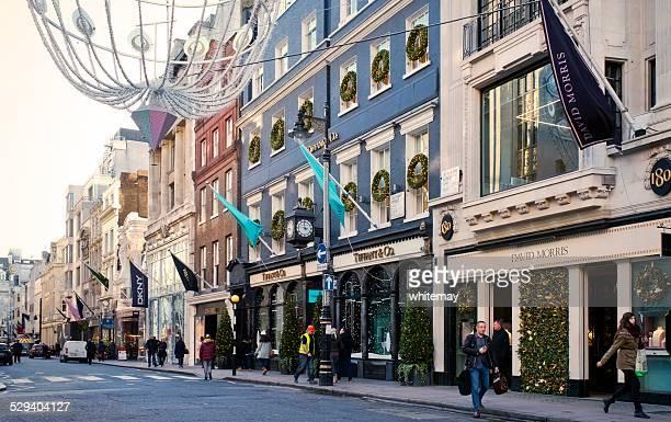 New Bond Street, Londres, en Navidad