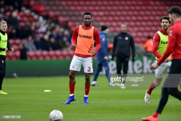 New Boro signing John Obi mikel pictured before l the FA Cup match between Middlesbrough and Newport County at the Riverside Stadium Middlesbrough on...