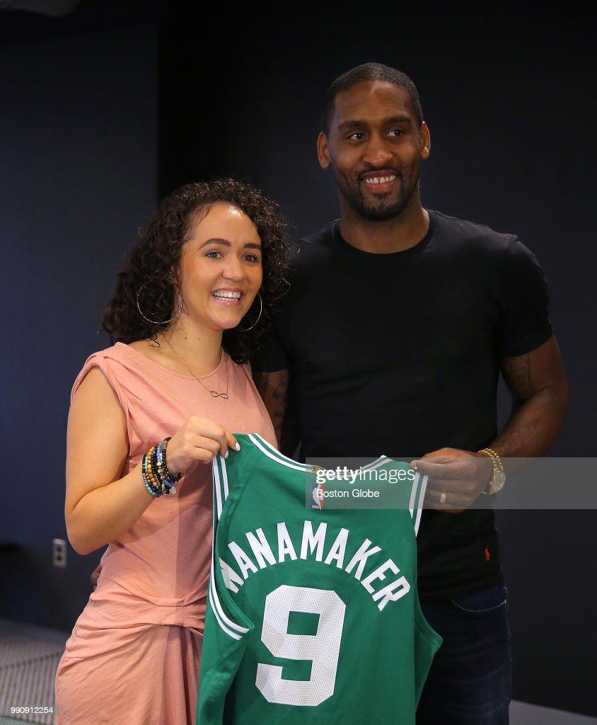 official photos ca90e 09419 New Boston Celtics signee Brad Wanamaker and his wife ...