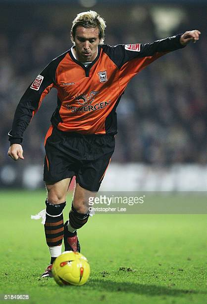 New boy Darren Currie of Ipswich Town in action on his debut during the CocaCola Championship match between Queens Park Rangers and Ipswich Town at...