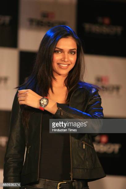 New brand ambassador of Tissot actress Deepika Padukone during a press conference in New Delhi