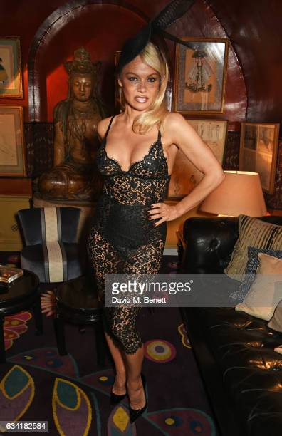 New brand ambassador Pamela Anderson attends the Coco de Mer Valentine's fashion show at Annabel's on February 7 2017 in London England