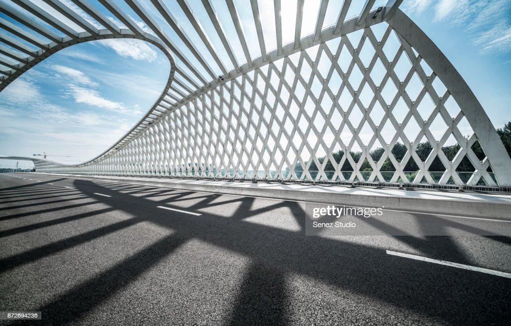 New bridge of Wenyu River : Stock Photo