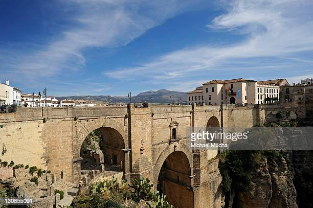 new bridge, ronda, andalucia, spain, europe - michael mucha stock-fotos und bilder