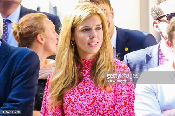 New British Prime Minister Boris Johnson's girlfriend Carrie Symonds waits for Boris to arrive in Downing Street Boris Johnson was elected as a new...
