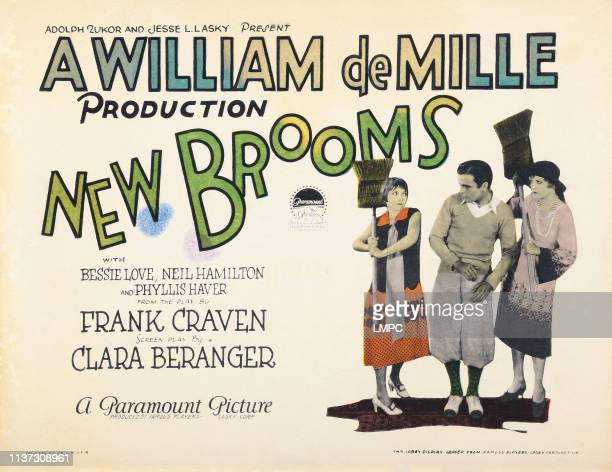 New Brooms US lobbycard from left Bessie Love Neil Hamilton Phyllis Haver 1925