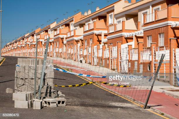 A new build housing development that was abandoned when the Spanish economy collapsed