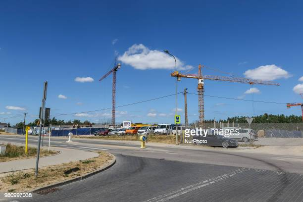 New building construction site is seen in Gdynia Poland on 20 June 2018 Builders in Poland completed 69 percent more homes in the first five months...
