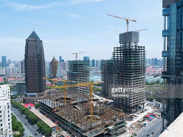 New building construction site,Shanghai