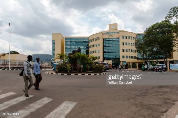 New buildings in downtown Kigali, the capital of Rwanda. Since the 1994 genocide that killed at least 800,000 Rwanda has experienced unprecedented...
