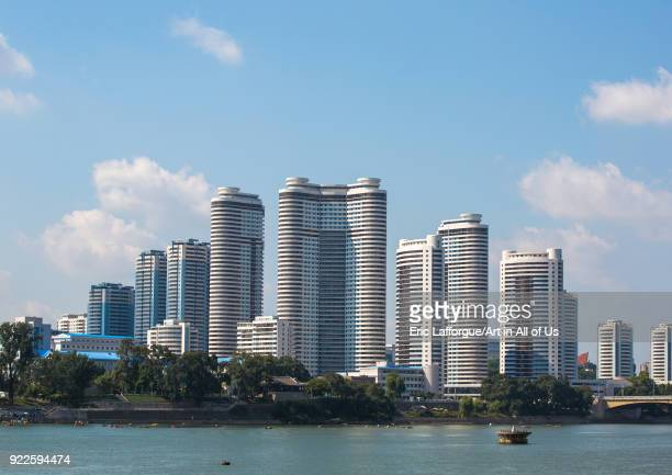 New buildings skyline in Changjon area Pyongan Province Pyongyang North Korea on September 9 2012 in Pyongyang North Korea