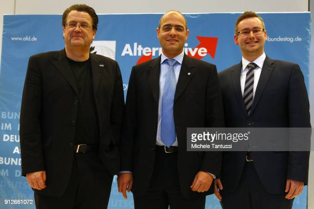 New Bundestag committees' heads and members of the right Party AfD or Alternative fuer Deutschland chairman of the German Bundestags legal affairs...