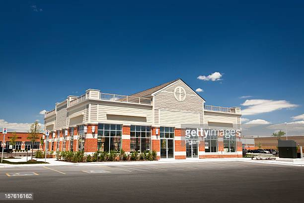 new business building for rent or lease - commercial real estate sign stock pictures, royalty-free photos & images